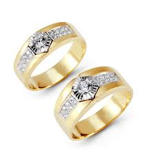 white gold wedding band sets 14k yellow white gold channel cz wedding band set matching