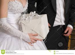 gift to a newly married royalty free stock photography