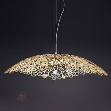 Esszimmer Lampe Gold Led Hängeleuchte Crystal Marine Gold Bordeaux Kaufen Lampenwelt De