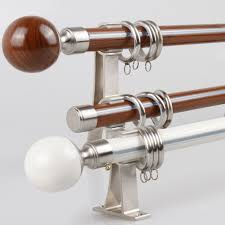 Curtain Rod Brackets Lowes Curtains Glossy Wood Curtain Rods Lowes With Ball Finial For Home