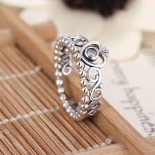 crown rings jewelry images Fashion plated silver color pandora ring my princess queen crown jpg