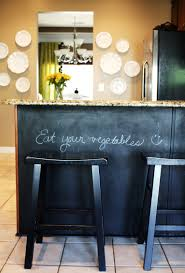 our kitchen chalkboard paint under the counter emily a clark