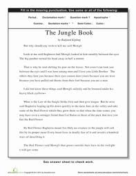 practice punctuation with the jungle book worksheet education com
