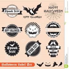 vintage halloween labels and stickers royalty free stock photos