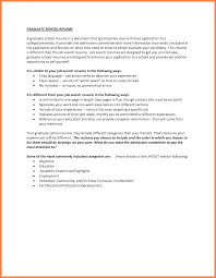 Categories For A Resume How To Write A Resume For Graduate Admission Free Resume