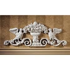 Architectural Pediment Design Urn Ornamental Iron Architectural Pediment Sp742 Design Toscano