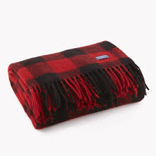 buffalo check wool throw buffalo plaid red black and buffalo