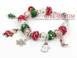 colored charm bracelet images Fashion style multi colored glaze xmas christmas charm bracelet jpg