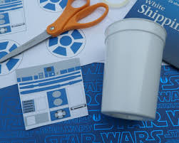 diy tutorial how to make r2d2 cups for your star wars party