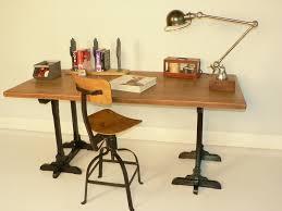 plateau pour bureau bureau chene treteaux ancien