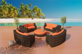 Savannah Bronze Outdoor Furniture Set - Round outdoor sofa 2