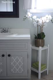 painted bathroom cabinets ideas before after my pretty painted bathroom vanity
