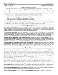 resume fresh resume sample for business analyst attractive