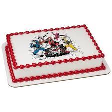 power rangers cake toppers power rangers edible icing image for 1 4 sheet cake walmart