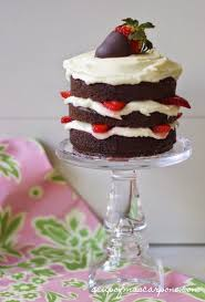 a cup of mascarpone chocolate strawberry mini cakes with