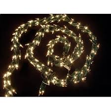 9 light garland with 300 clear mini lights green wire