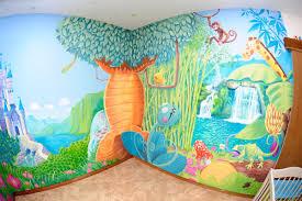 fresque murale chambre bébé dessin mur chambre enfant avec fresque murale dans une chambre d