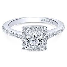 gabriel and co engagement rings gabriel co er5825w44jj white gold princess cut halo engagement ring