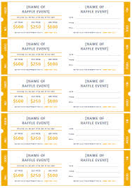 raffle ticket templates make your own raffle tickets