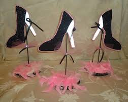 ten stiletto shoe centerpiece shoe party table decorations