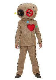 Voodoo Costumes Halloween Child Burlap Voodoo Doll Costume