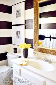 Black And Yellow Bathroom Summer Home Black Vase Gold Mirror And Yellow Towels From