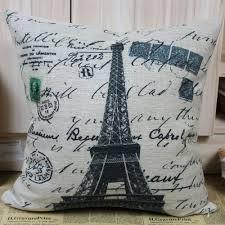 Eiffel Tower Home Decor Accessories Paris Eiffel Tower Cushion Cover