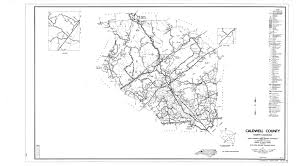 County Map Of Nc Caldwell County Maps