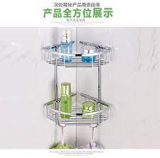 304 stainless steel bathroom shelf rack basket wall mounted corner