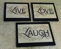 live love laugh wall decor shenra com amazon com live love laugh wall decor plaques 3 piece set home