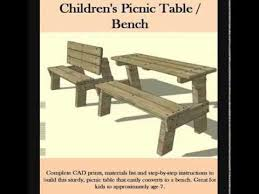 Folding Picnic Table Instructions by Kids Picnic Table And Bench Youtube