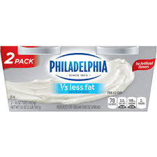 philadelphia light cream cheese spread kraft philadelphia light cream cheese spread 2 pk 16 oz bjs