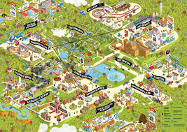 Six Flags New England Map by 2010 Chessington World Of Adventures Theme Park Map Illustration