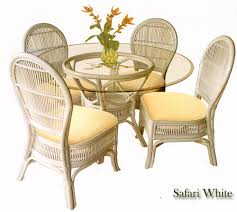 safari whitewash wicker dining room set beachcraft furniture