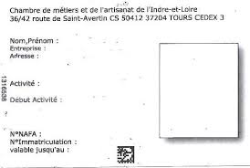carte chambre des metiers carte d artisan cma37 fr