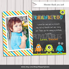little monster thank you card monster thank you note monster