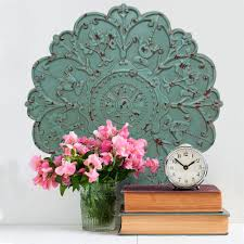 home decor shabby medallion wall decor