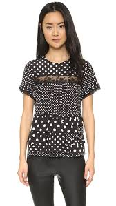 polkadot top marc by marc polka dot top in black lyst
