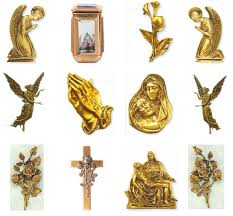 photo ceramics bronze finished religious statues in synthetic marble