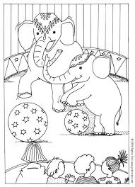 circus elephants coloring pages hellokids