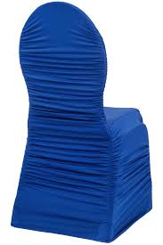 royal blue chair covers ruched fashion spandex banquet chair cover royal blue at cv linens