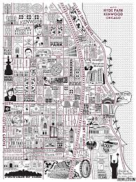 Chicago Map Art by Hyde Park And Kenwood Map U2013 Joe Mills