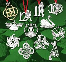 hammer complete 12 days of sterling ornament set