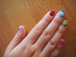 easy nail art for children rainbow glitter design youtube animals