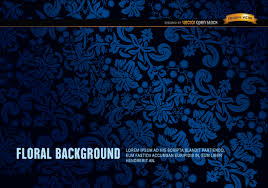 blue and black floral ornament background free vector 123freevectors