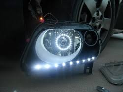 how to install led lights in car headlights led halo headlight accent lights with t3 1 4 adapter led halo