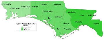 Florida Regions Map by Region 1 Florida Inclusion Network