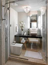 glamorous bathroom decorating plan for small space with crystal
