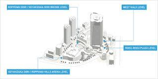 Skyscraper Floor Plan by Floor Map Roppongi Hills Roppongi Hills