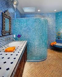 badezimmer duschschnecke blaue mosaik fliesen badezimmer dusch schnecke orientalisch flair